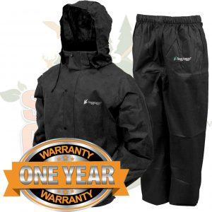 Frogg Toggs All Sport Rain Suit Jacket & Pants Gear Wear Sports Frog Black 2X