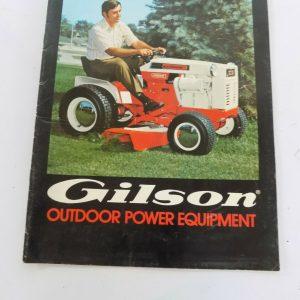 Gilson Lawn Garden Tractor & Outdoor Power Equipment Sales Brochure