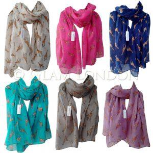 Giraffe Print Scarf Latest Fashion Ladies Modern Giraffa Animal Horse Wrap Shawl