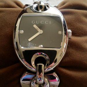 Gucci Marina Chain Ladies Diamond Set Watch YA121503