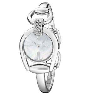 Gucci YA139504 Women's Horsebit White Quartz Watch