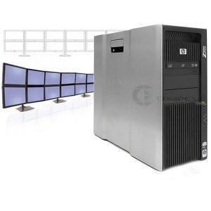 HP Z800 12 Monitors Workstation  2x X5560 2.8GHz 24GB RAM 600GB SSD 2x NVS 510