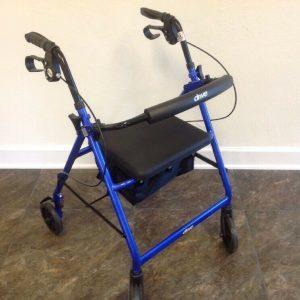 Home Health Care Products Elderly Walking Aid Blue Handicap Walker Equipment