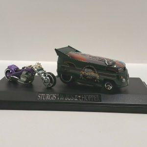 Hot Wheels Liberty Promotions 2004 Gal Sturgis VW DRAG BUS & CHOPPER  #34/200