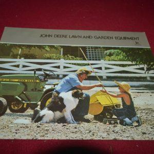 John Deere Lawn & Garden Equipment For 1978 Brochure FCCA
