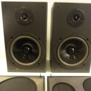 KLH btf220 Bookshelf Surround Main Speakers 100watt Black GUC
