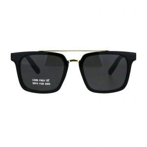 Kid's Fashion Sunglasses Boys Girls Trendy Square Metal Top Shades UV 400