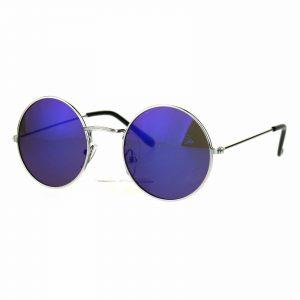 Kid's Fashion Sunglasses Round Circle Metal Frame Mirror Lens UV 400