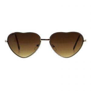 Kid's Girls Fashion Sunglasses Cute Heart Shape Metal Frame UV 400