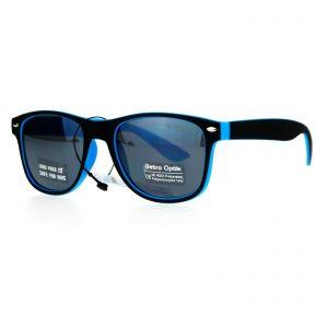 Kid's Sunglasses Matte Black 2-tone Color Classic Kid's Fashion Shades UV 400
