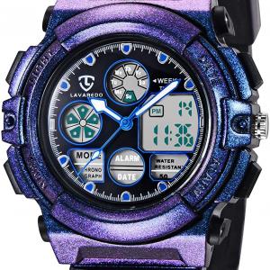 Kid's Watch,Boys Watch Digital Sport Outdoor Multifunction Chronograph LED 5ATM