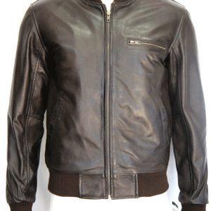 Kirk Men's Gents Brown Designer Fashion Real Napa Soft Lambskin Leather Jacket