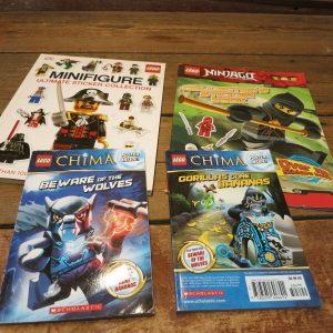 LEGO LOT Books w/Stickers & Posters - Minifigure, Chima And Ninjago Books!