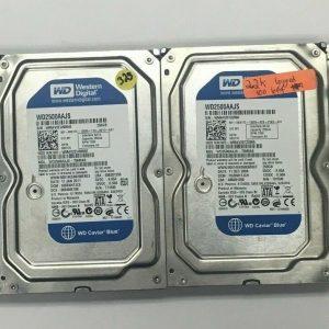 "Lot Of 4 Various 250GB 3.5"" SATA Hard Drives For Desktop Computers"