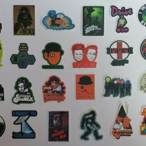 Lot de 24 Autocollants / Stickers neufs sur le thème séries et cinéma américain