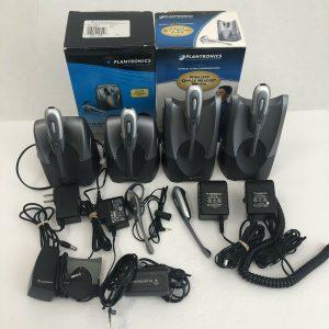 Lot of 5 - Plantronics CS55 CS50 Wireless Office Headset Systems + Accessories