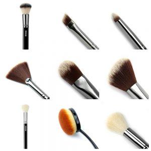 LuxVisage Makeup Eyeshadows Blush Foundation Lips Powder Kabuki Brushes