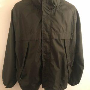 Magellan Sports Wear Olive Vented Windbreaker Jacket Size XL