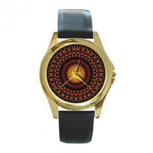 Mandala Psychedelic visionary art watch unisex - Leather strap