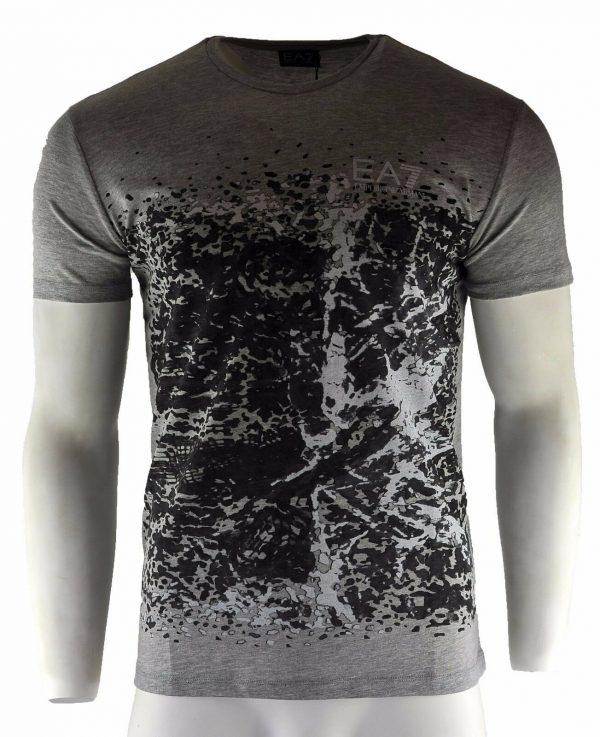 Men's Armani Jeans T-Shirt Grey Fashion Crew Neck Size S M L XL XXL