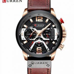 Mens Curren Luxury Brown Watch Timepiece Men's Accessories NWT