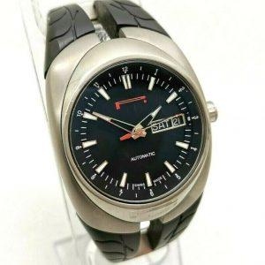 Men's PIRELLI P ZERO TEMPO 7921100115 Automatic Day Date Watch 35mm Black Dial