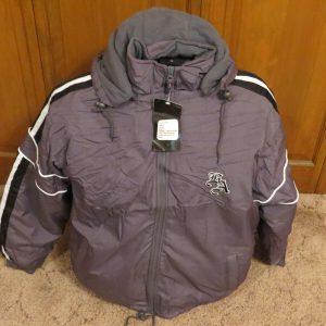 Men's Sports Wear West Side Hooded Jacket Coat Size: 2XL Los Angeles Gray