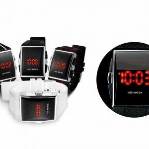 Men's/Women's (unisex) Modern/Retro Red LED Sports Watch