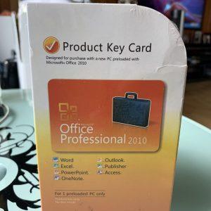 Microsoft Office Professional 2010 Product Key Card (PKC),SKU 269-14834,Full,NIB