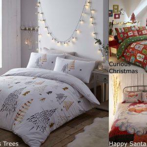 Modern Christmas Duvet Cover Sets Quilt Cover Bedding Set Festive Bedlinen New