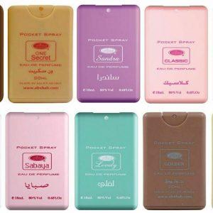 NEW AL REHAB PERFUMES-POCKET SPRAY ARABIAN FRAGRANCE TRAVEL ATOMISER 18ML ATTAR