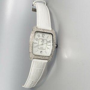 NOLAN MILLER Women's Watch Brand New Clear Crystal New Battery Runs Great 34mm