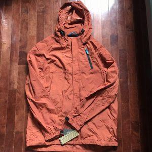 NWT Field Gear Outdoor Wear Orange Men's Zip Up Jacket Size L