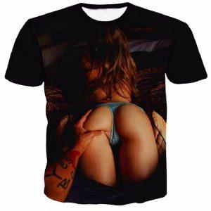 New Fashion Women/Men's Sexy Hip/Thinker 3D Print Casual Short Sleeve T-Shirt