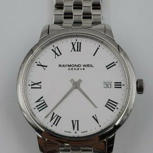 New Raymond Weil Toccata Quartz White Dial Men's Watch 5485-ST-00300 NO RESERVE