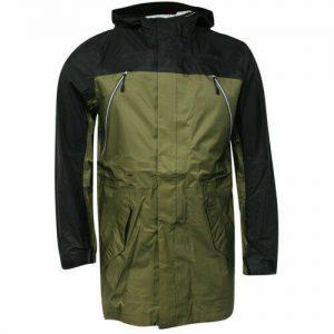 Nike Sports Wear Zip Up Buttoned Mens Black Green Jacket Coat 459626 222 P4A