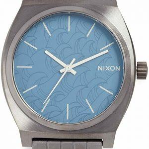 Nixon Watch Time Teller Gunmetal Navy 37 mm Blue Woman Accessories A045-2854-00