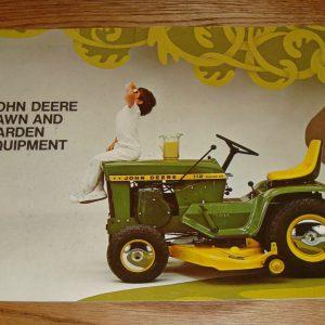 Original 1970 John Deere Lawn & Garden Equipment Sales Brochure 70 Tractor Mower