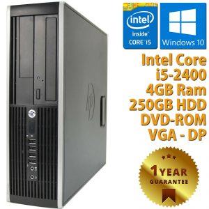 PC COMPUTER DESKTOP RICONDIZIONATO HP 8200 CORE i5-2400 RAM 4GB HDD 250GB WIN 10
