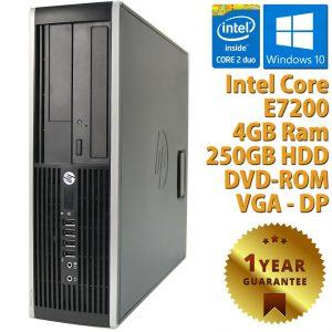 PC COMPUTER DESKTOP RICONDIZIONATO HP DUAL CORE RAM 4GB HDD 250GB WINDOWS 10