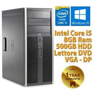 PC COMPUTER DESKTOP RICONDIZIONATO HP QUAD CORE i5-2400 RAM 8GB 500GB WINDOWS 10