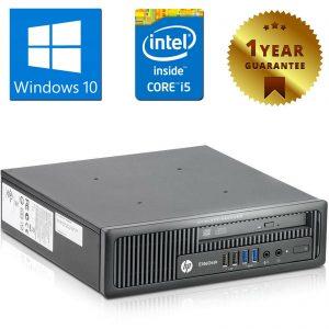 PC MINI COMPUTER DESKTOP RICONDIZIONATO HP 800 G1 CORE i5-4570S 4GB 500GB WIN 10