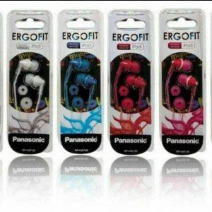 Panasonic Ergo-Fit In-Ear Earbud Style Headphones Earphones RP-HJE125 NEW!