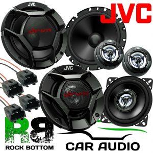 Peugeot 206CC JVC 1160 Watts Component Kit Front Door & Rear Side Car Speakers