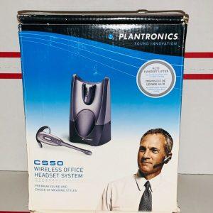 Plantronics CS50 Wireless Office Headset System W/Accessories.