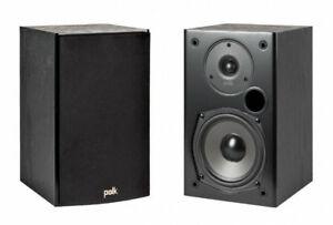 Polk T15 Bookshelf Speakers - Black