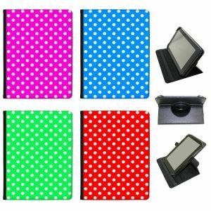 Polka Dot Mania Universal Folio Leather Case For Alba Tablets