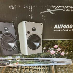 Proficient Aw400 Indoor/outdoor Bookshelf Speakers. Black