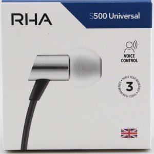 RHA S500 Universal Ultra Compact Earphones - Noise Isolating & Voice Control