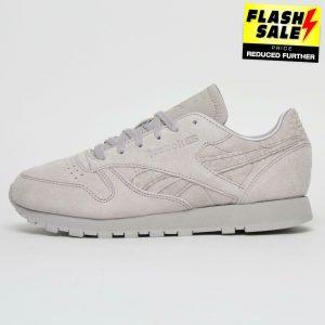 Reebok Classic Leather Women's Girls Casual Retro Fashion Trainers Grey